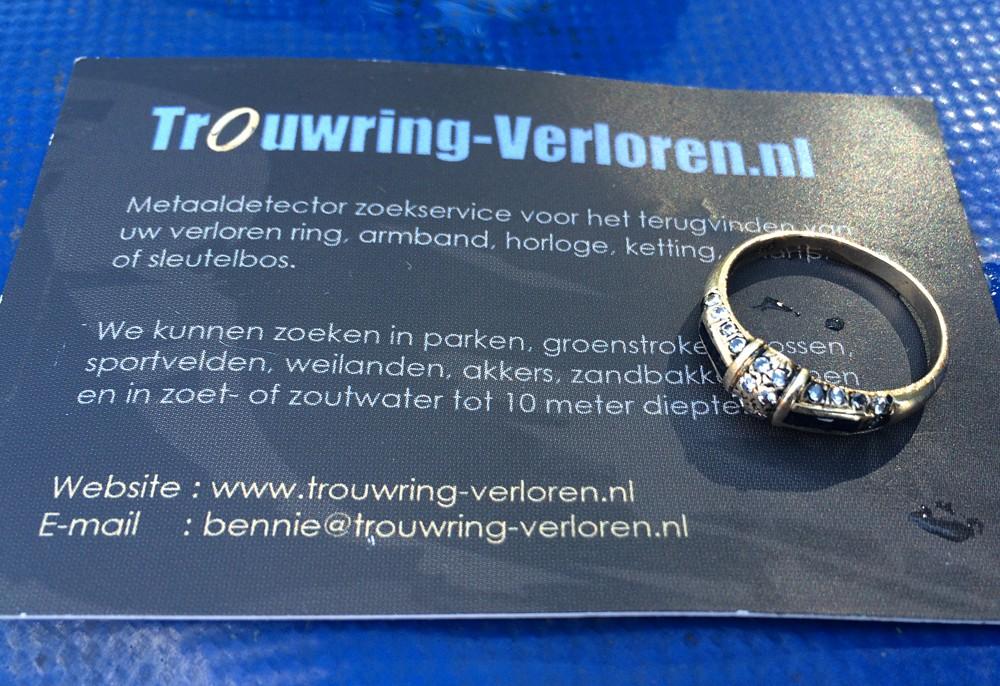 Verloren Ring met Saffieren